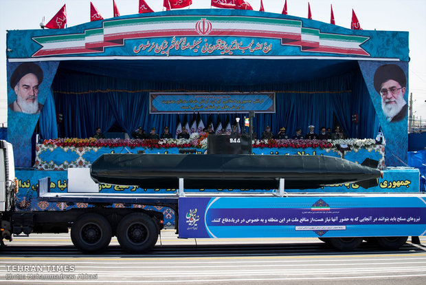 Iran's military on parade to mark Army Day