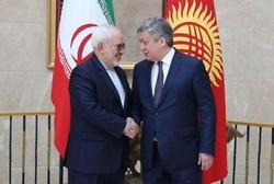ظریف با همتای قرقیزستانی خود دیدار و گفتگو کرد