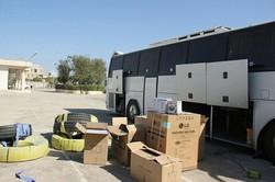 ۶ دستگاه اتوبوس حامل کالای قاچاق در جم توقیف شد