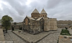 A view of the UNESCO-registered Saint Thaddeus Monastery on the outskirts of Maku in northwast Iran.