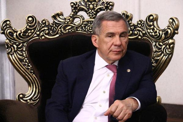 الرئيس التاتاري يدعو إلي تعزيز العلاقات مع ايران
