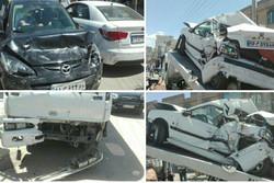 تصادف در جاده «گیلوران» خرمآباد یک کشته و ۹ زخمی برجای گذاشت