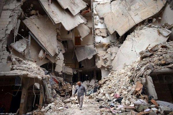خرابی های شهر الزبدانی
