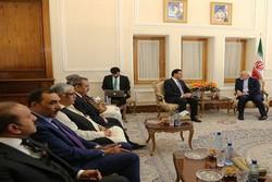 ظريف يستقبل رئيس البرلمان الباكستاني في طهران