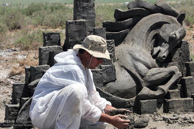 Salt sculptures festival at Kaji Wetland