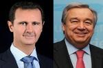 الأمین العام للأمم المتحدة يبرق الى الأسد مهنئا