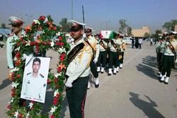 پیکر شهید نیروی انتظامی در اهواز تشییع شد