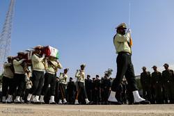 تشییع پیکر پاک ۲ شهید نیروی انتظامی در اهواز