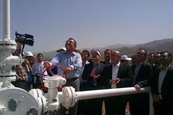 بزرگترین پروژه گازی استان در منطقه الموت به بهره برداری رسید