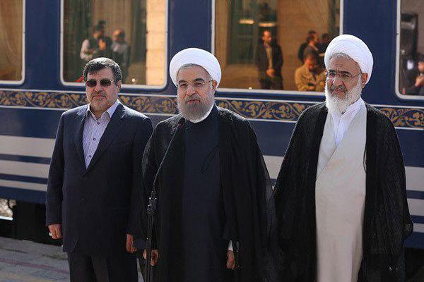Cumhurbaşkanı Hasan Ruhani Kazvin'de