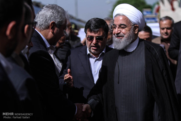 Rouhani in Qazvin for WAIC summit