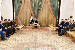 الرئيس العراقي يتسلم اوراق اعتماد سفير ايران الجديد