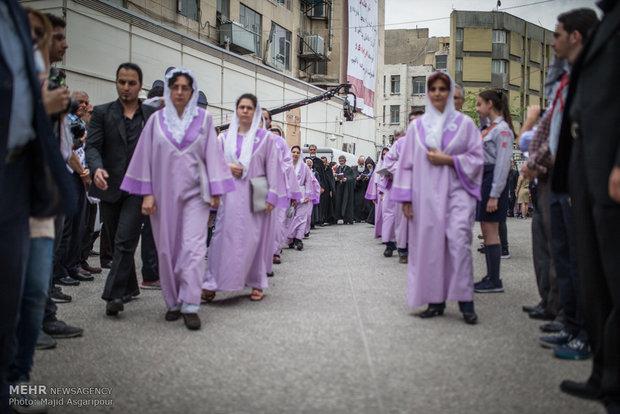 Tahran'daki Ermenilerden 24 Nisan gösterisi
