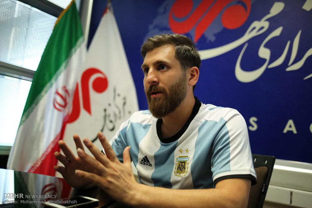 دیدار بدل ایرانی مسی با مسی در اسپانیا