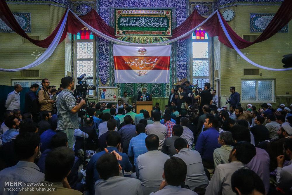 سخنرانی محمدباقر قالیباف در میان مردم قم