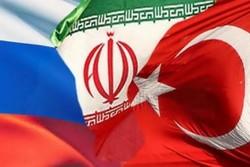 پرچم روسیه ترکیه و ایران