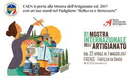 A poster for the 81st International Handicrafts Trade Fair in Florence, Italy
