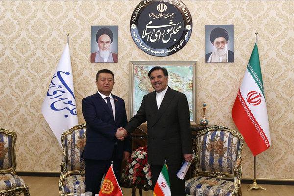 دیدار آخوندی با رئیس مجلس قرقیزستان