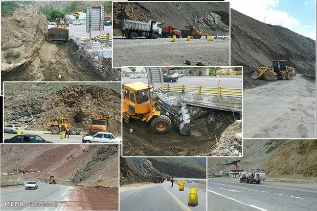 از سرگیری دیوارچینی در جاده چالوس/گاردریلها تعمیر میشود