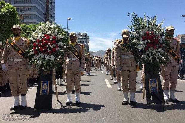 Funeral of martyred soldiers in Mirjaveh