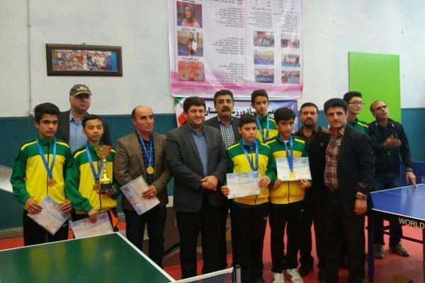 جام قهرمانی تنیس روی میز پسران به گنبد رسید