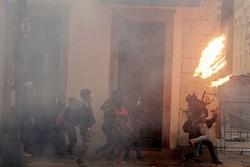 درگیری معترضان با پلیس در برزیل