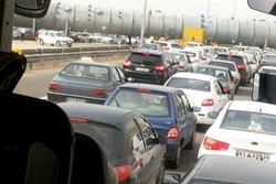 ترافیک اتوبان تهران- قم