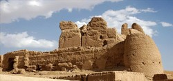 The ruins of Narin Qa'leh, a historical mud-brick fortress in central Iran