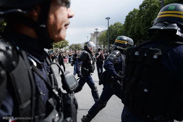 Fransa cumhurbaşkanlığı seçimlerine karşı protestolar