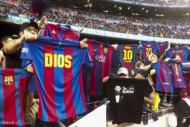 دیدار تیم های فوتبال بارسلونا و اوساسونا