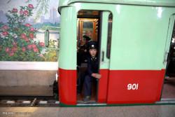 Kuzey Kore'de bir metro istasyonu