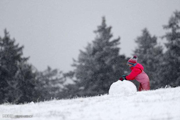 تصاویر/ بارش برف بهاری در آلمان