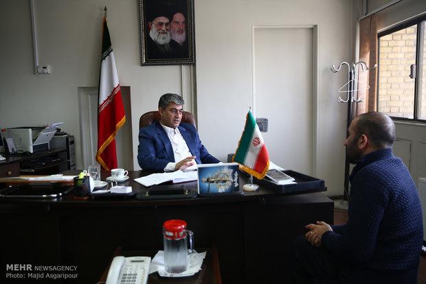 لقاء المدير العام للشؤون السياسية في وزارة الداخلية محمد أمين رضا زاده مع وكالة مهر للأنباء
