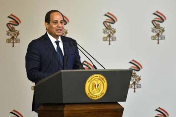 مصر کے صدر متحدہ عرب امارات  پہنچ گئے