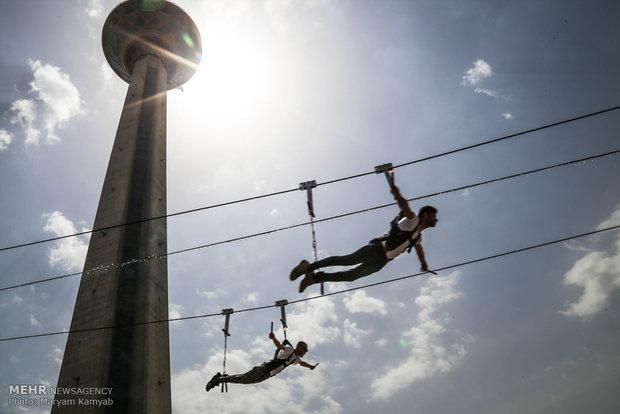 Opening of Milad Tower's zip-line