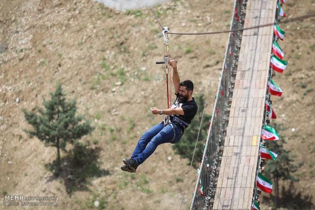 زیپ لاین چیست زیپ لاین تهران برج میلاد اخبار تهران