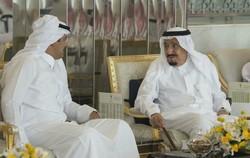 ملک سلمان و امیر قطر