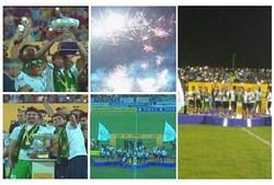 جشن قهرمانی پارس جنوبی جم در لیگ دسته اول فوتبال برگزار شد