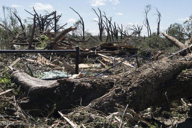 خسارات طوفان در ایالت های آمریکا