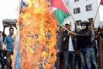 آتش زدن پرچم صهیونیستها در مغرب