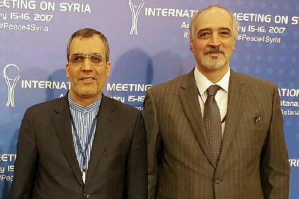 Jaberi Ansari, Bashar Jaafari meet in Astana