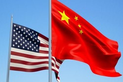 پرچم آمریکا و چین
