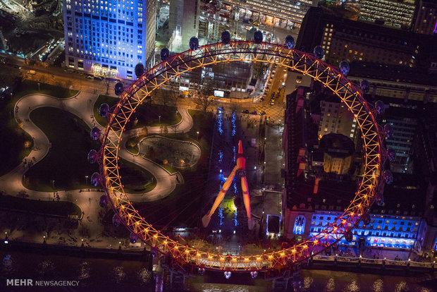 لندن در هنگام شب