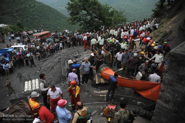 انفجار في منجم الفحم الحجري بمحافظة كلستان الايرانية