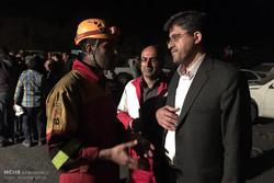 امدادرسانی ۴ تیم آتش نشانی گرگان در معدن آزادشهر
