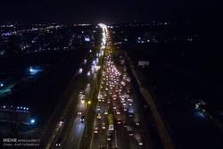 ترافیک سنگین در محور فیروزکوه و جاده قدیم جاجرود