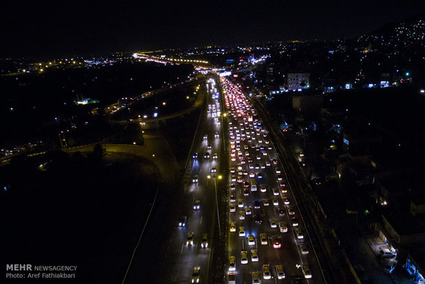 وقتی ترافیک کرج را دور می زند
