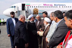 Rouhani visits coal mine explosion site