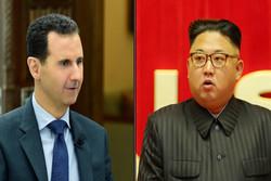بهشار ئهسهد سپاسی سهرۆکی کۆریای باکوور کرد