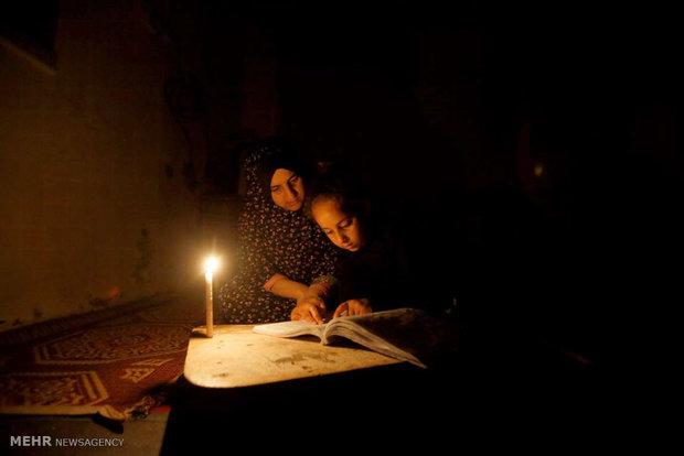 غزه در هنگام شب